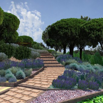 Design of a community garden in Tossa de Mar