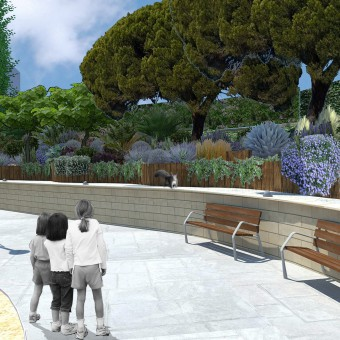 Design of a condominium garden in Esplugues