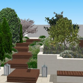 Shared terrace design in Terrassa