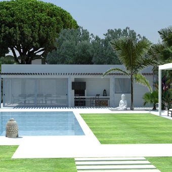 Garden and Pool Design for new construction in Vilassar