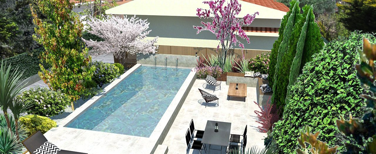 Garden & poool Design at Canoves