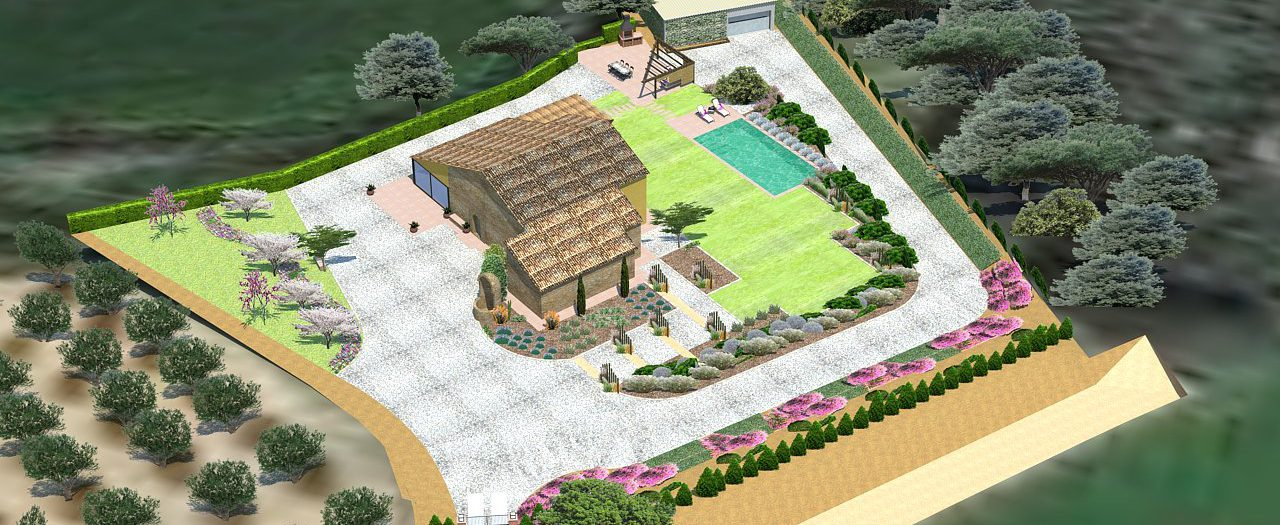 Garden & Pool design in a farmhouse at Vallès