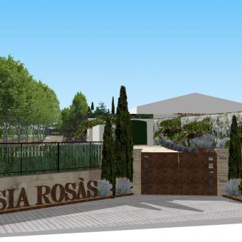 Design of a masia (catalan country house) garden
