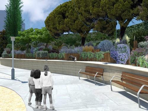 Diseño jardín comunitario en Esplugues