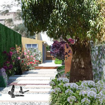 Design of a village house garden in Olesa
