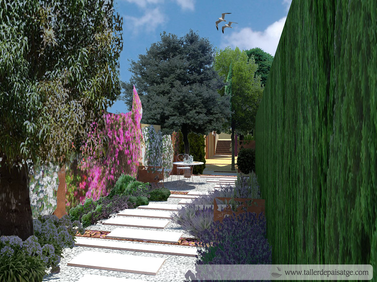 Disseny jardí 3D render