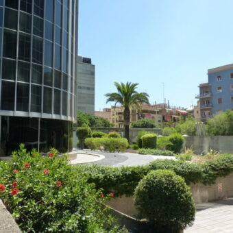 Barcelona Trade Buildings gardens