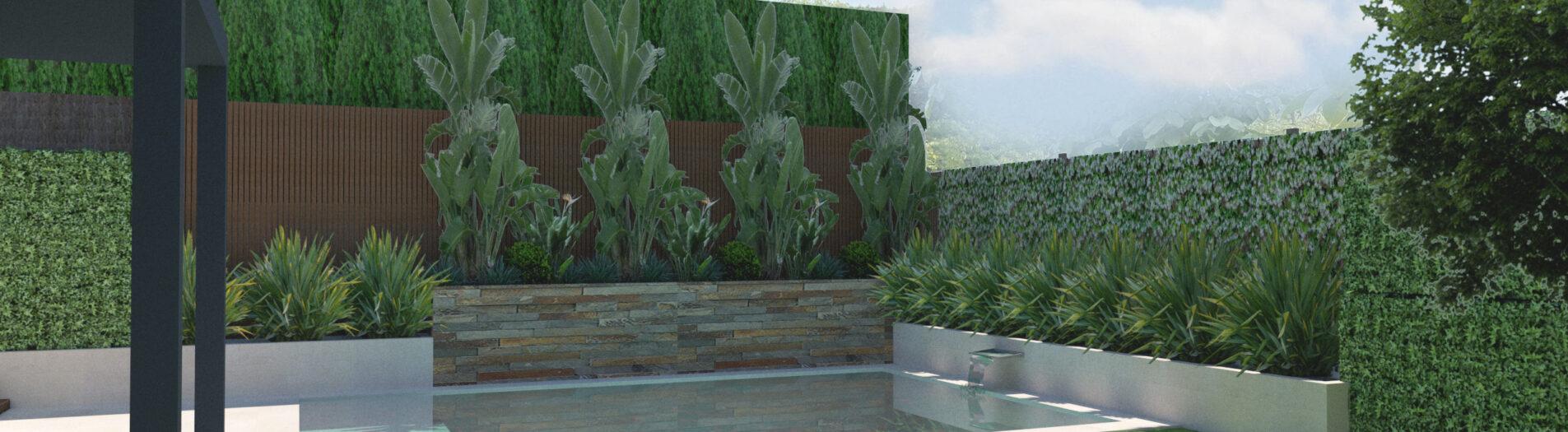 Diseño de Jardín y Piscina en Sta Agnes II