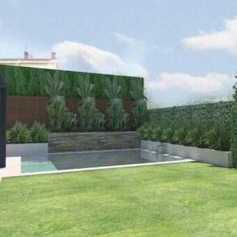 Disseny de Jardí i piscina a Santa Agnes II