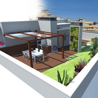 Terrace dessign in Girona