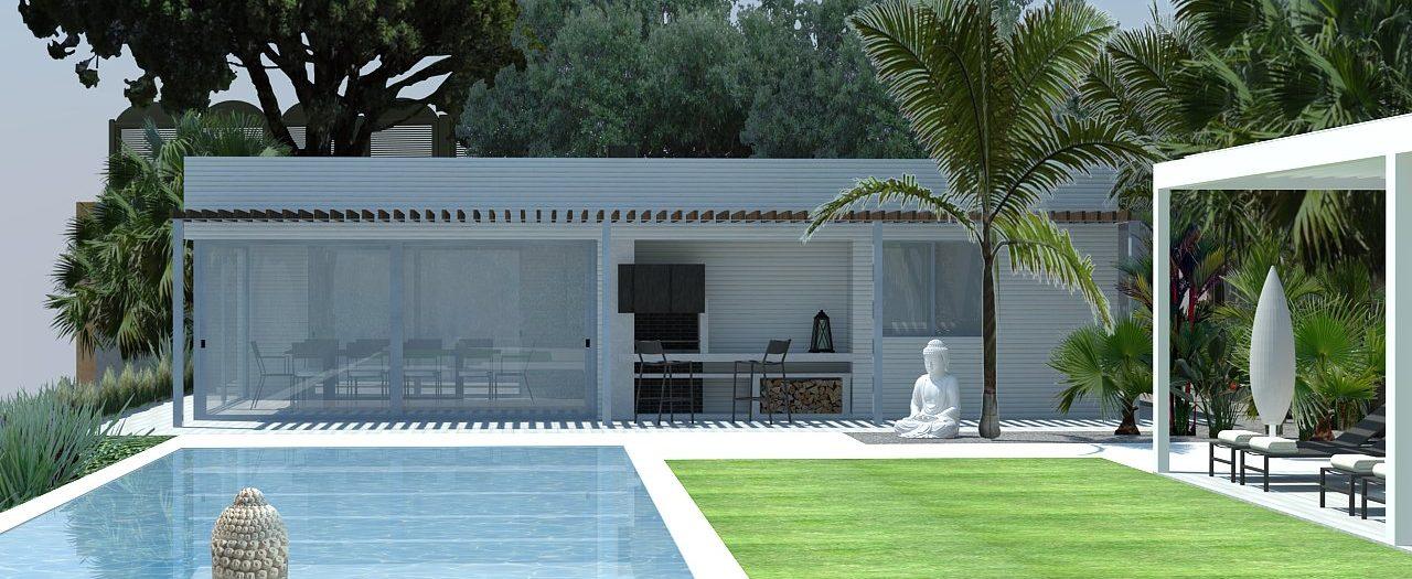 Diseño Jardín y Piscina para obra nueva en Vilassar