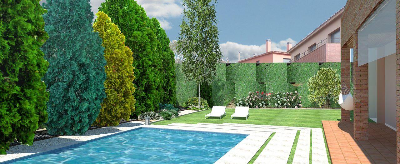 Diseño de Jardín y piscina en Santa Agnès