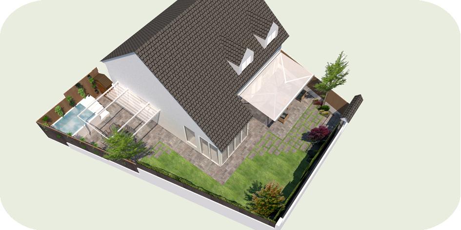 Diseño Jardín y spa en Tiana
