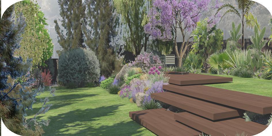 Garden & pool in St Cugat Design