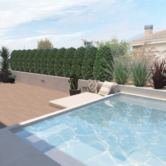 Disseny de terrassa i piscina a Sallent